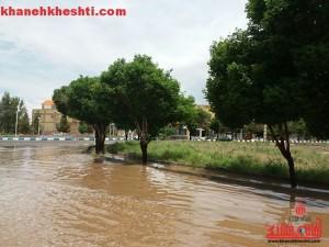 آبگرفتگی-معابر-رفسنجان-خانه-خشتی-3